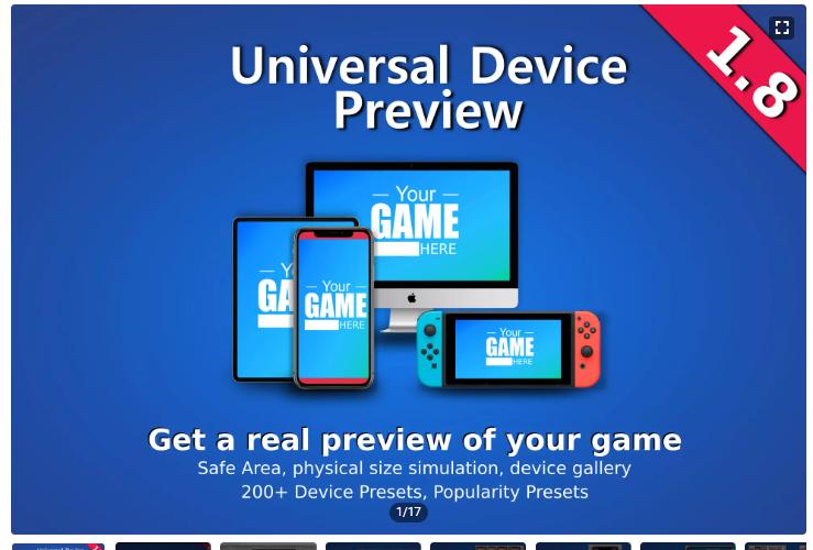 【unity】UniversalDevicePreviewドキュメントの和訳【アセット】