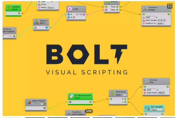 unityビジュアルスクリプティング「Bolt」の記事一覧